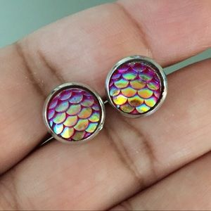 Mermaid stud earrings